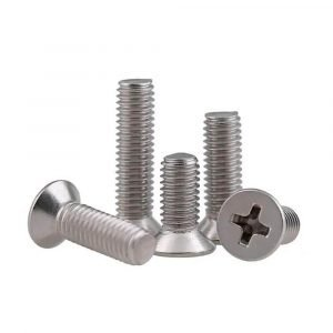 machine screws phillips flat head