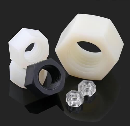 Nylon Plastic Nuts Hex