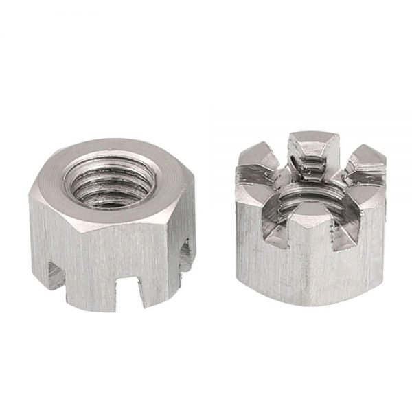 Slotted lock nuts