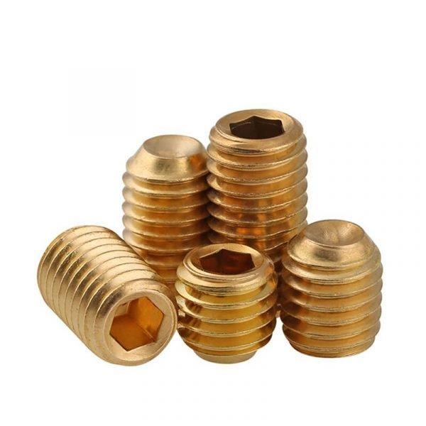 brass set screws cap point